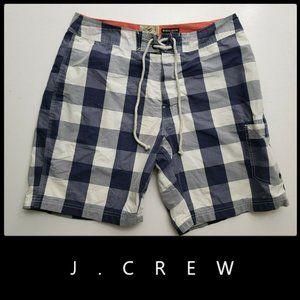 J.Crew Men Plaid & Check Cargo Board Short Size 32
